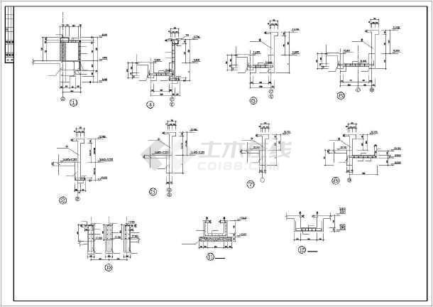 某中学食堂建筑结构施工图CAD图纸-图2