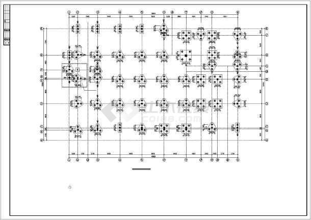 某中学食堂建筑结构施工图CAD图纸-图3