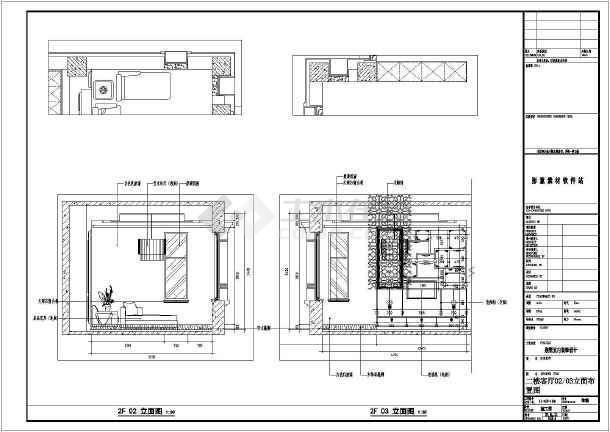 中式豪华别墅装修设计施工图-图1