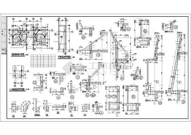某地错层商住楼建筑结构施工CAD图纸-图1