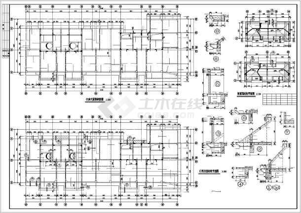 某地错层商住楼建筑结构施工CAD图纸-图3
