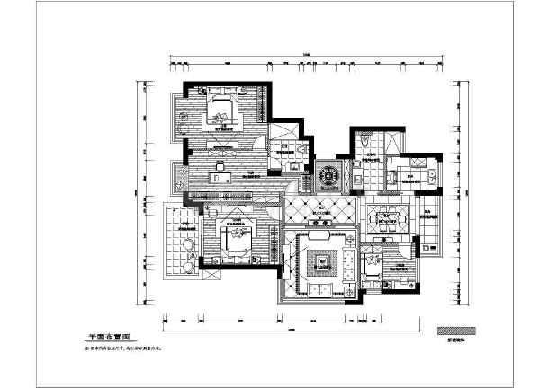 星海家苑三居室全套装修设计图纸-图1