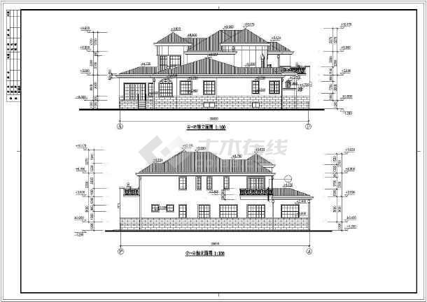 某市花园别墅建筑设计施工图-图1