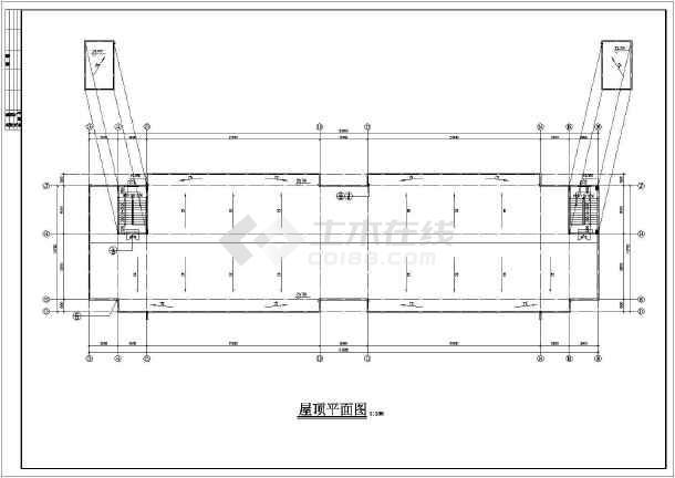 某公司宿舍楼建筑设计cad施工图-图2