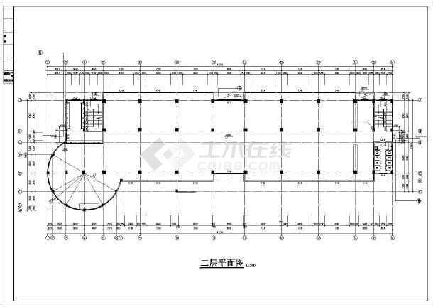 某公司宿舍楼建筑设计cad施工图-图3