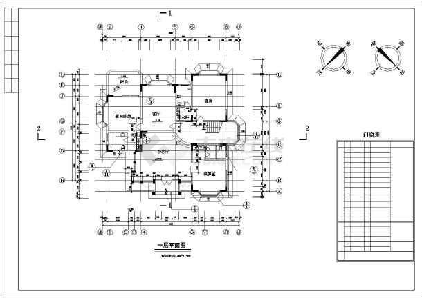 重庆某别墅建筑CAD设计施工图-图2