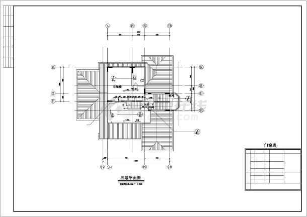 重庆某别墅建筑CAD设计施工图-图3