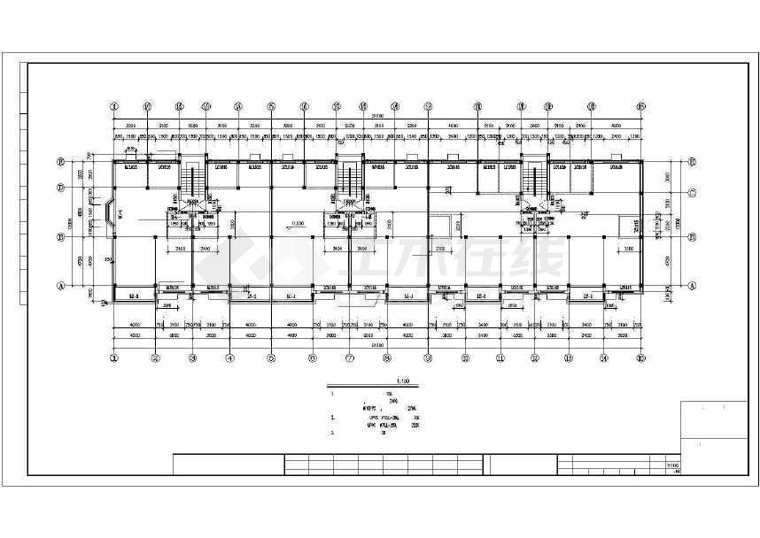 一套简单的住宅建筑施工图-图1
