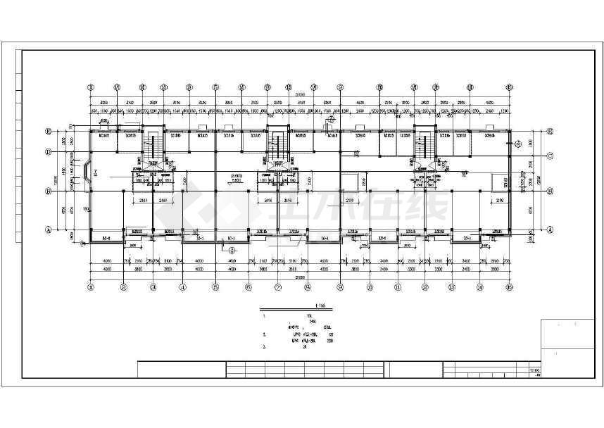 一套简单的住宅建筑施工图-图3