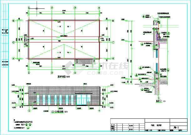 一层物业管理用房建筑设计图(含设计说明)-图1