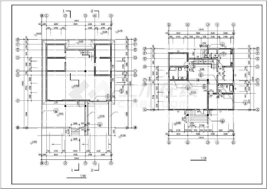 某地别墅建筑施工图(共8张)-图1
