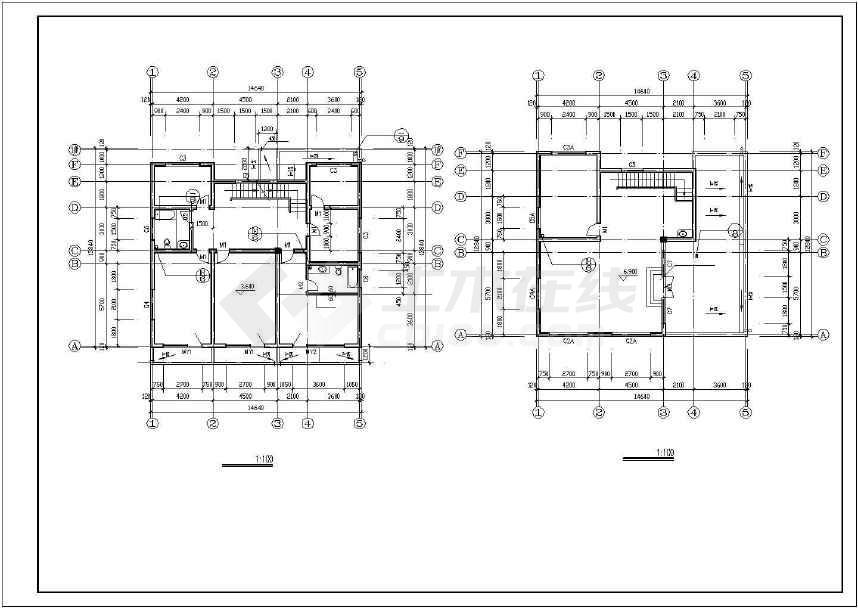 某地别墅建筑施工图(共8张)-图2