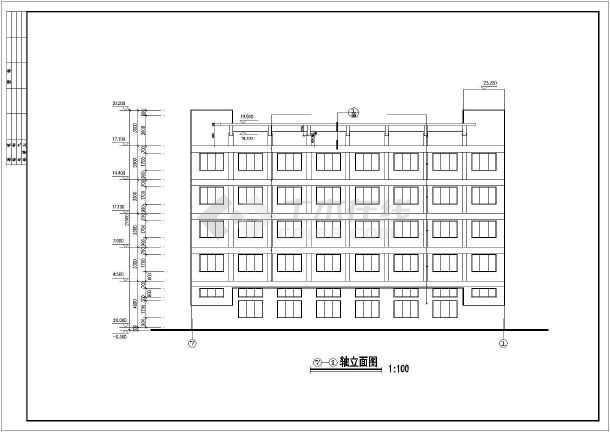 某公司宿舍建筑设计cad施工图-图1