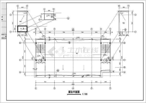 某公司宿舍建筑设计cad施工图-图2