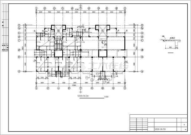 某12层异型柱框剪住宅部分结构设计图-图1