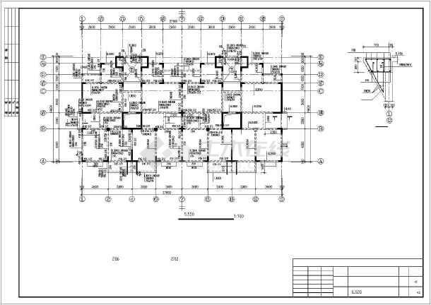 某12层异型柱框剪住宅部分结构设计图-图2