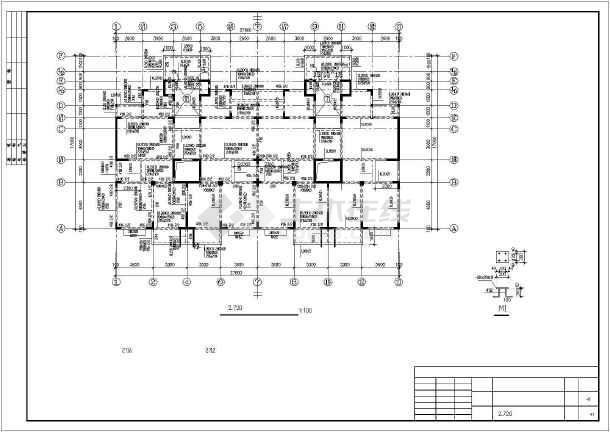某12层异型柱框剪住宅部分结构设计图-图3