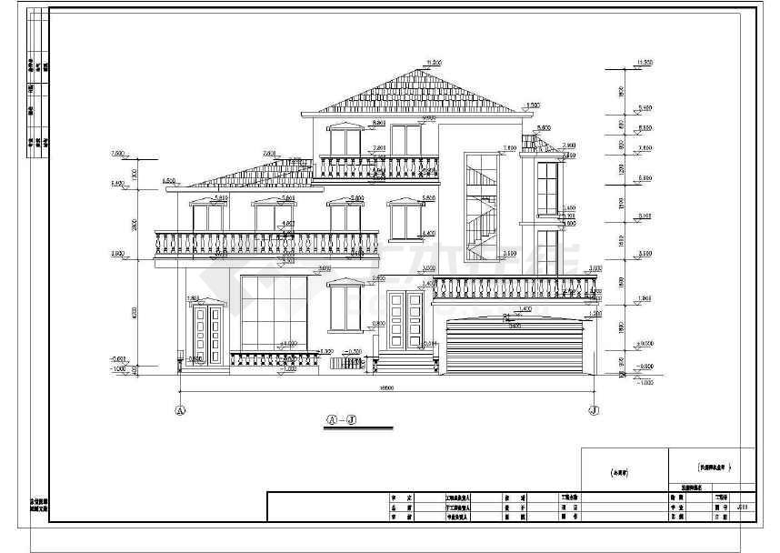 完整的一套豪华公馆式别墅施工图-图1