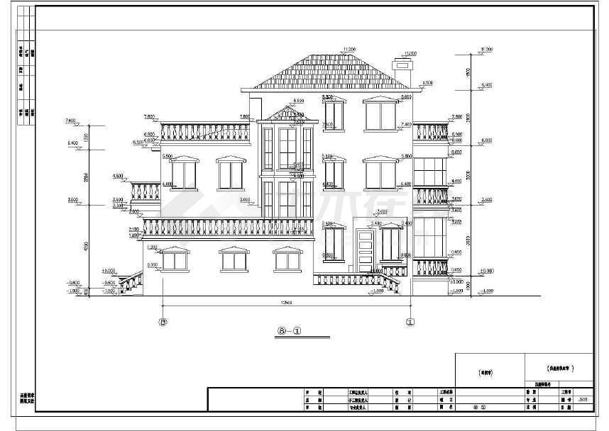 完整的一套豪华公馆式别墅施工图-图2