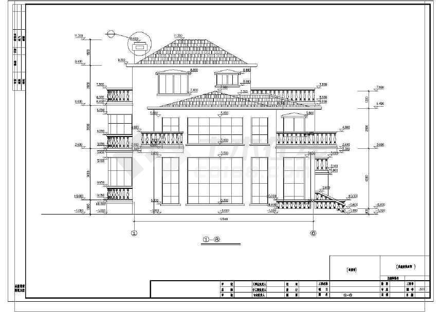 完整的一套豪华公馆式别墅施工图-图3