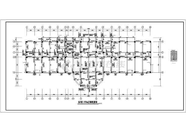 某地检察院建筑结构施工CAD图-图2