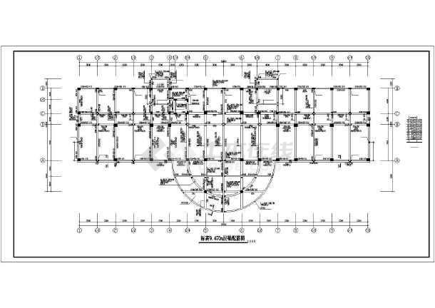 某地检察院建筑结构施工CAD图-图3