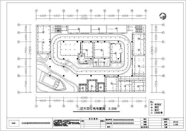 某四居室大型家装设计施工图-图3