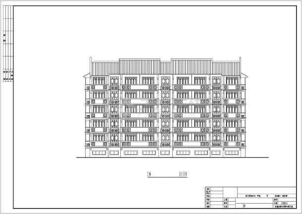 某市住宅楼建筑设计方案图-图2