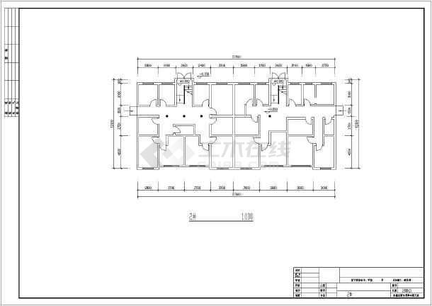 某市住宅楼建筑设计方案图-图3