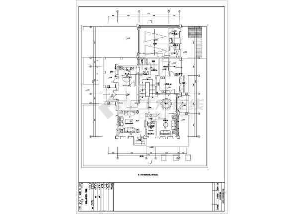 [安徽]高档别墅双户型电气施工图(2016最新)-图2