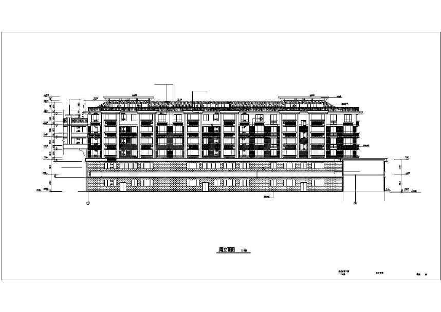 比较受欢迎的一套完整的住宅建筑施工图-图3