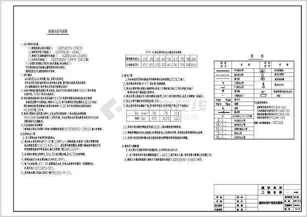 安徽六层单元式住宅楼给排水图纸-图1