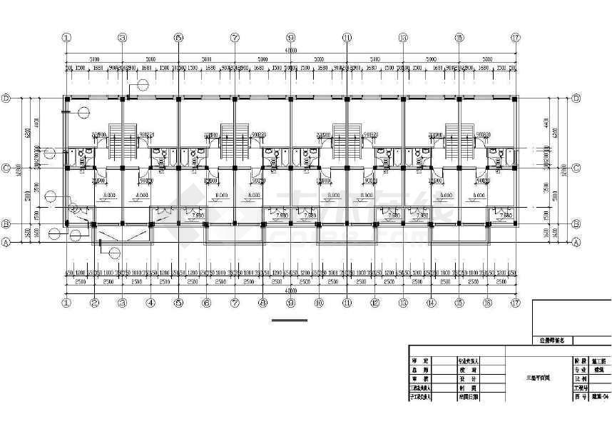 某地一套完整的村民安置住宅建筑施工图-图1