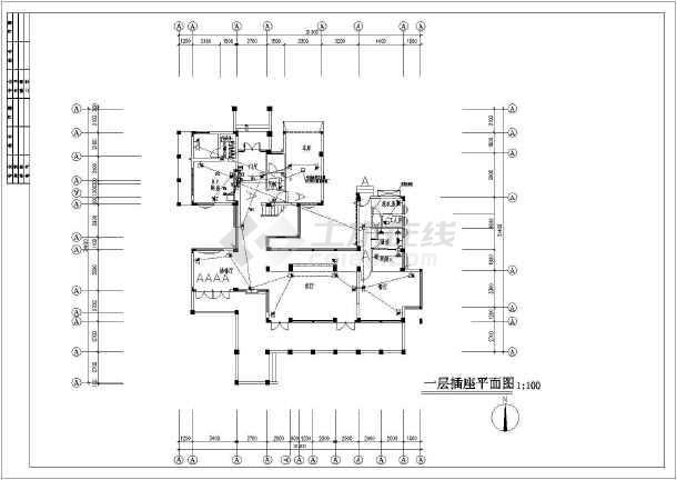 某新式别墅电气设计图CAD图纸-图2