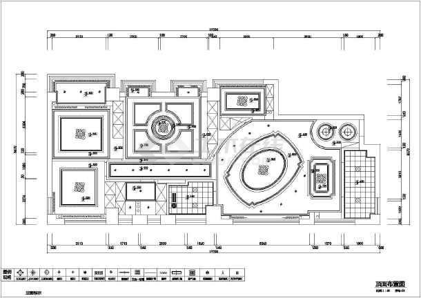某大厦三室住宅全套装修设计图纸-图3