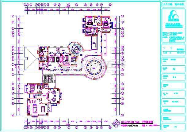某3层别墅平面布置图-图1