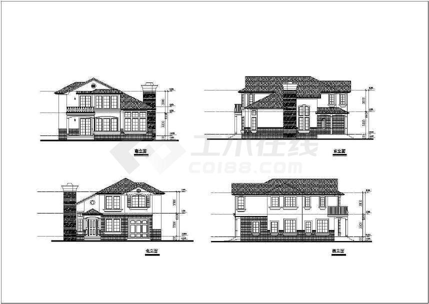 非常简单实用的别墅建筑设计图-图2