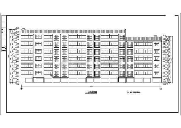 某地经济适用房施工建筑CAD设计图-图1