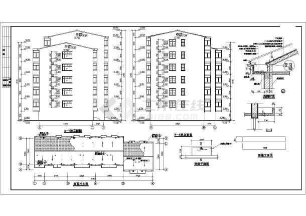 某地经济适用房施工建筑CAD设计图-图2
