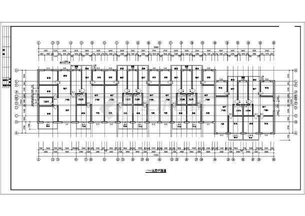 某地经济适用房施工建筑CAD设计图-图3