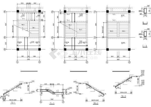 某框架办公综合楼建筑结构CAD图-图1