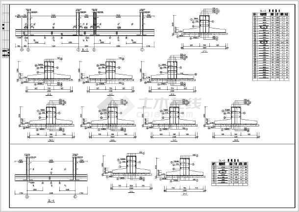 某地框架综合楼建筑结构施工CAD图纸-图2