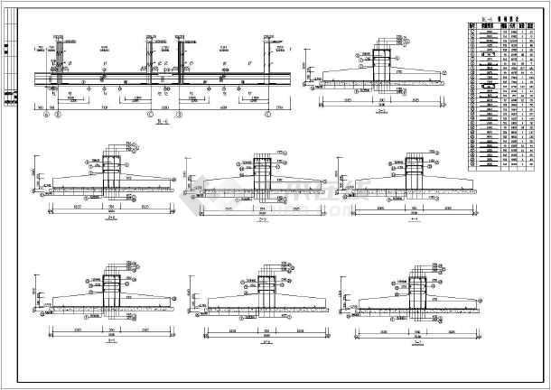某地框架综合楼建筑结构施工CAD图纸-图3