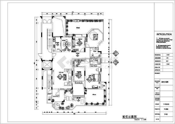 东南亚风格别墅装修设计施工图-图2