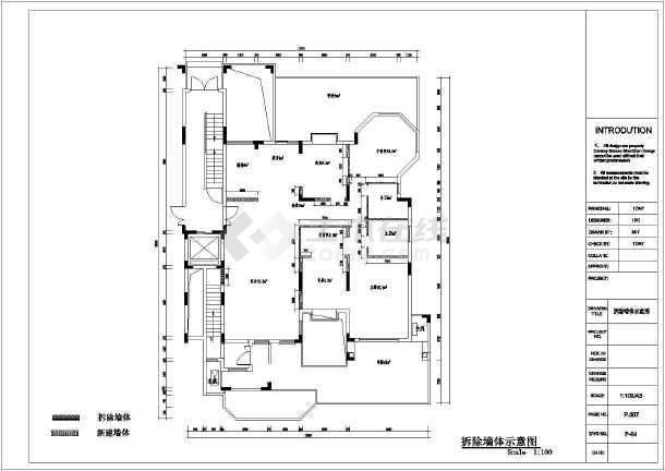 东南亚风格别墅装修设计施工图-图3