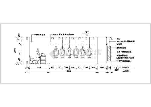 高档服装店全套装修设计施工图-图3