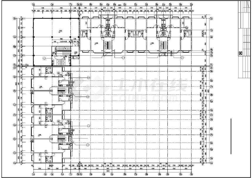 某地多层住宅楼建筑设计图-图1