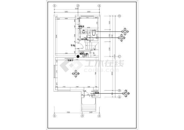别墅装饰建筑施工cad图纸(共15张)-图1
