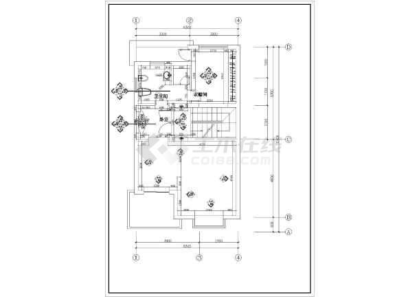别墅装饰建筑施工cad图纸(共15张)-图3