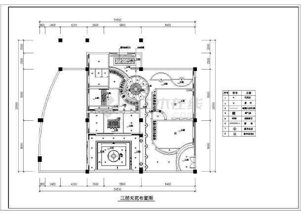 某精美别墅装修建筑设计CAD图纸-图2